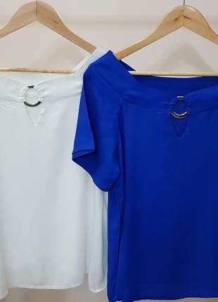 Blusa azul em viscose