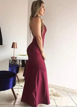 Vestido sereia marsala dress code