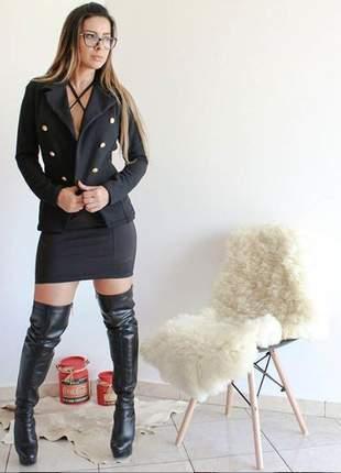 Blazer preto dress code