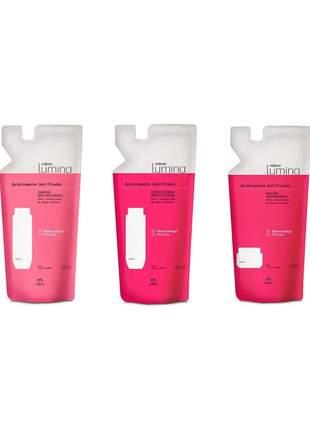 Kit natura lumina cabelos quimicamente danificados 300ml