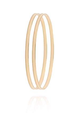 Bracelete clássico chapinha liso folheado a ouro 18k