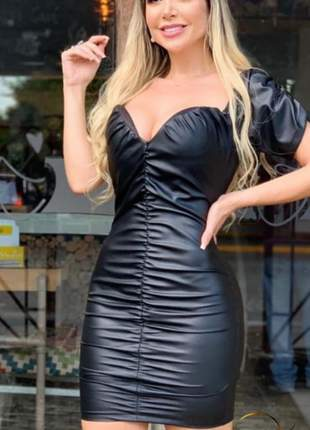 Vestido midi cirrê preto