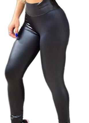 Calça Legging Pants Cirrê Preta Cirrê Cintura Alta Ccb 325b