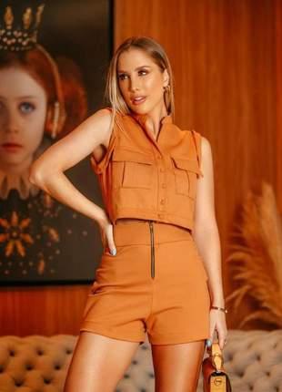 Conjunto blusa e shorts loreal m/a clothes
