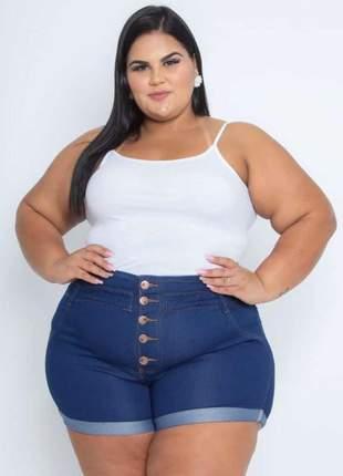 Shorts jeans plus size botões