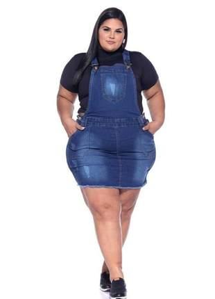 Jardineira plus size saia