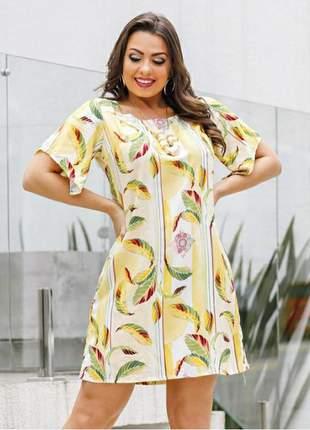 Vestido verão manga com  amarração