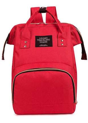 Bolsa mochila impermeable maternidade multifuncional feminina moda living traveling share