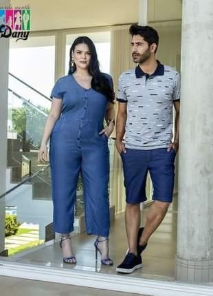 Macacão liocel pantacourt cris jeans