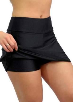 Shorts saia fitness roupa feminina academia suplex