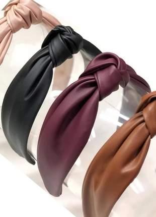 Tiara nó arquinho kit 3 peças (cores sortidas)