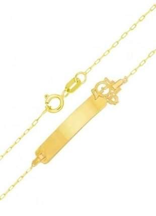 Pulseira em ouro 750, pulseira infantil menina em ouro 18k