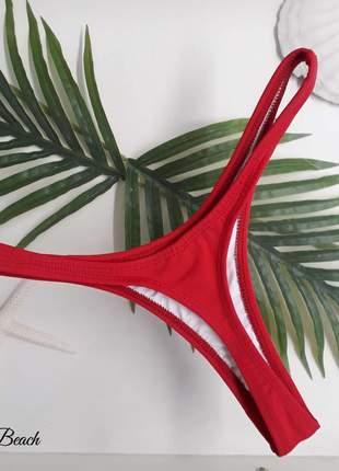 Biquini asa delta bronze - vermelho