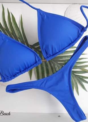 Biquini asa delta bronze - azul royal