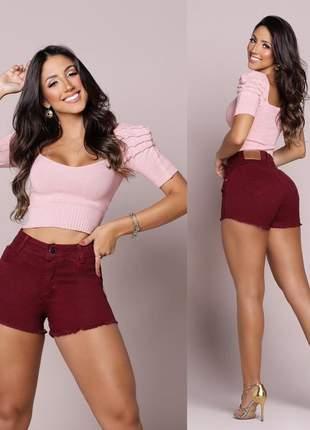 Shortinho jeans feminino