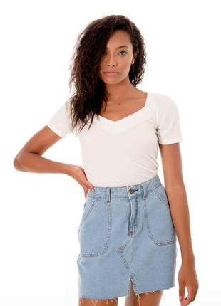 Saia jeans barra