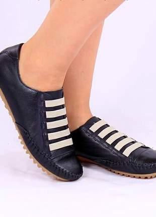Tênis sapatênis de elástico preto azul vermelho