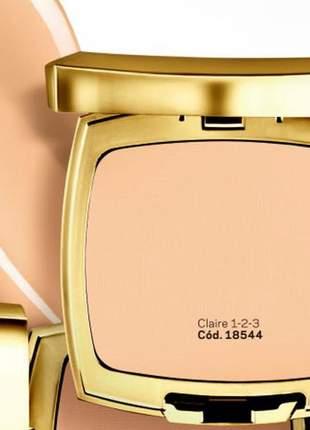 Pó compacto duplo uso edição de luxo dourada l bel