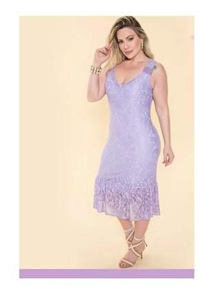 Vestido renda lilas