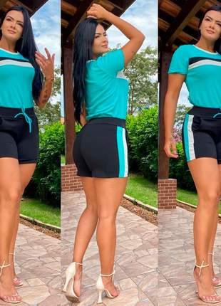 Conjunto blusinha e shorts envio rápido