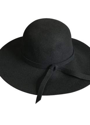 Chapéu feminino floppy tradicional preto