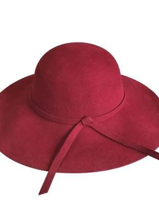 Chapéu feminino floppy tradicional vinho