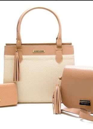 Bolsas feminina couro ecológico grande, pequena, carteira