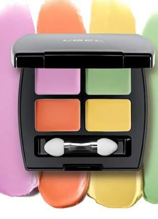 Corretivo de olheiras e imperfeições paleta 4 cores l bel