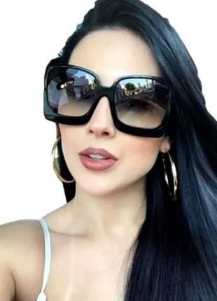 Óculos original feminino quadrado grande