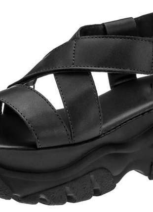 Sandália feminina papete plataforma tratorada
