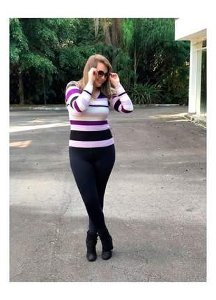 Blusa feminina tricot listrada