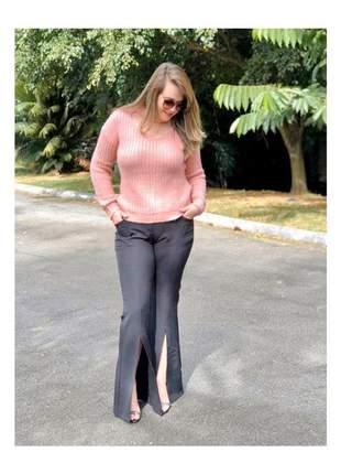 Blusa feminina tricot choker