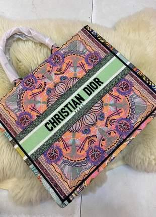 Bolsa dior tote book in lights multicolorido lançamento