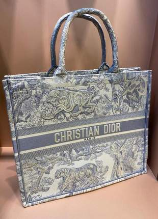 Bolsa dior italiana tote book bordada