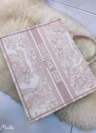 Bolsa dior italiana tote book bordada