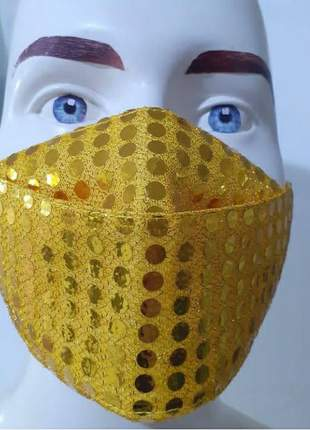 Mascara 3d lantejoulas