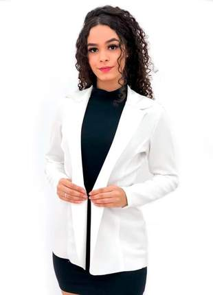 Blazer max feminino sem bolso