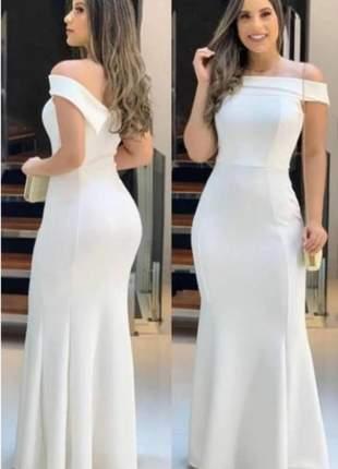 Vestido longo de festa para casamentos e confraternizações