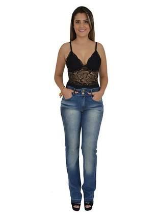 Calça jeans high reta lança perfume promoção