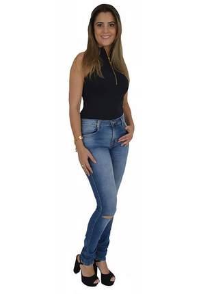 Calça jeans low skinny lança perfume promoção