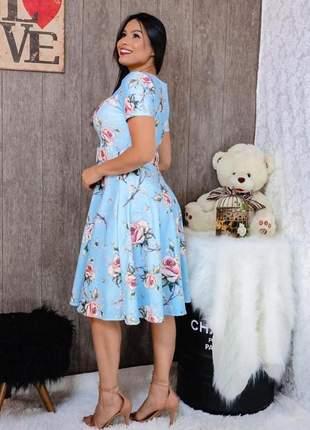 Vestido midi sophie, tecido suplex. moda evangélica promoção