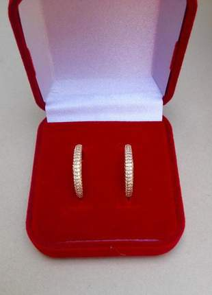Anel aparador par feminino zirconia banhado ouro 18k