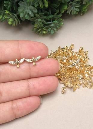 Brinco pomba espirito santo banhado a ouro
