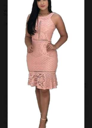 Vestido feminino longuete moda evangelica justo social