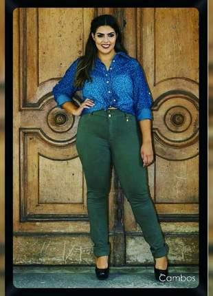 Calça jeans plus size cambos