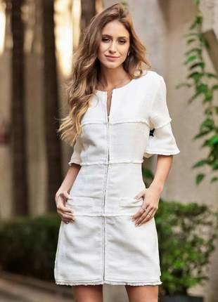 Vestido curto diana off white