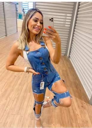 Macacão jeans destroyed