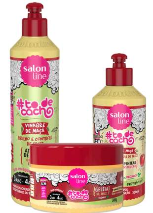 Salon line vinagre de maçã completo vegano e liberado 03 produtos
