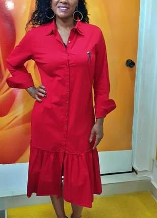 Vestido midi camisa races car - jeanseria - vermelho