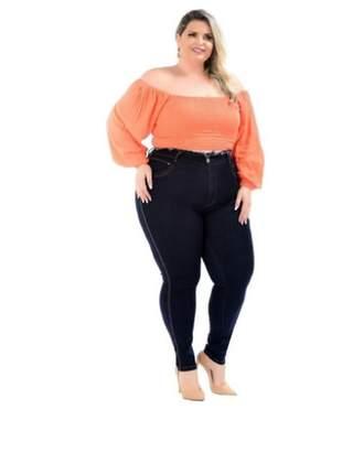 Calça jeans plus size feminina cintura alta